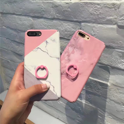 Luxury Diamond Marble Glitter Cute Animal Phone Cases for iPhone X XR XS MAX 7 8 6s Plus holder Ring Silicone Cover