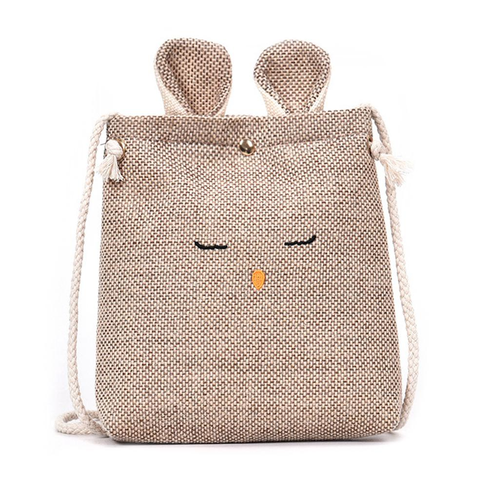 new-women-small-messenger-bag-sling-shoulder-bags-fashion-female-shoulder-crossbody-cartoon-linen-rabbit-clutch-handbags-zk30