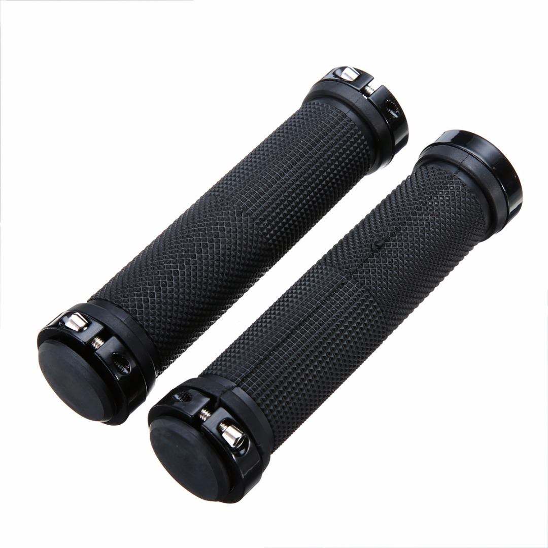 Bicycle Grips 1Pair Gripshift MTB Cycle Bicycle Handlebar Cover Grips Lock-on Fixed Gear Rubber Cycling Handlebar Accessories