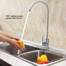 1/4'' Stainless Steel Kitchen Sink Faucet Tap Chrome Reverse Osmosis RO Drinking Water Filter sink faucet water tap New Arrival стоимость