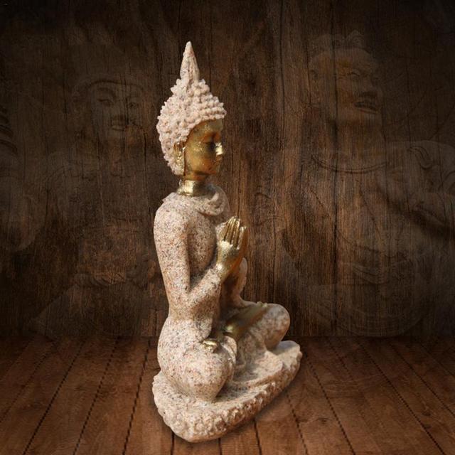 Sandstone Golden Buddha Statue 3