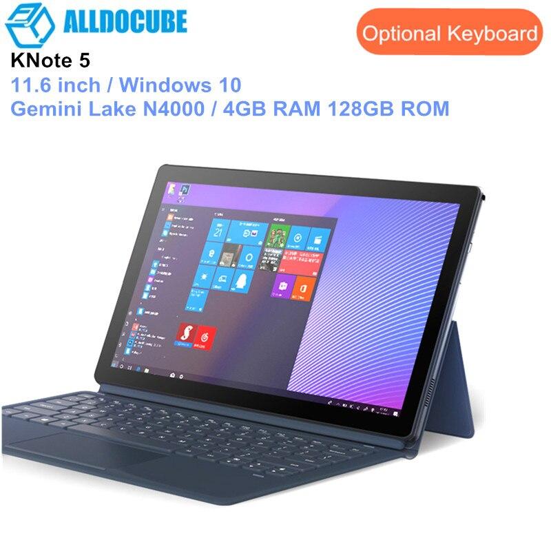 ALLDOCUBE KNote 5 Tablets 2 in 1 Tablet PC 11.6 inch Windows 10 Intel Gemini Lake N4000 Quad Core 4GB RAM 128GB ROM Dual Band