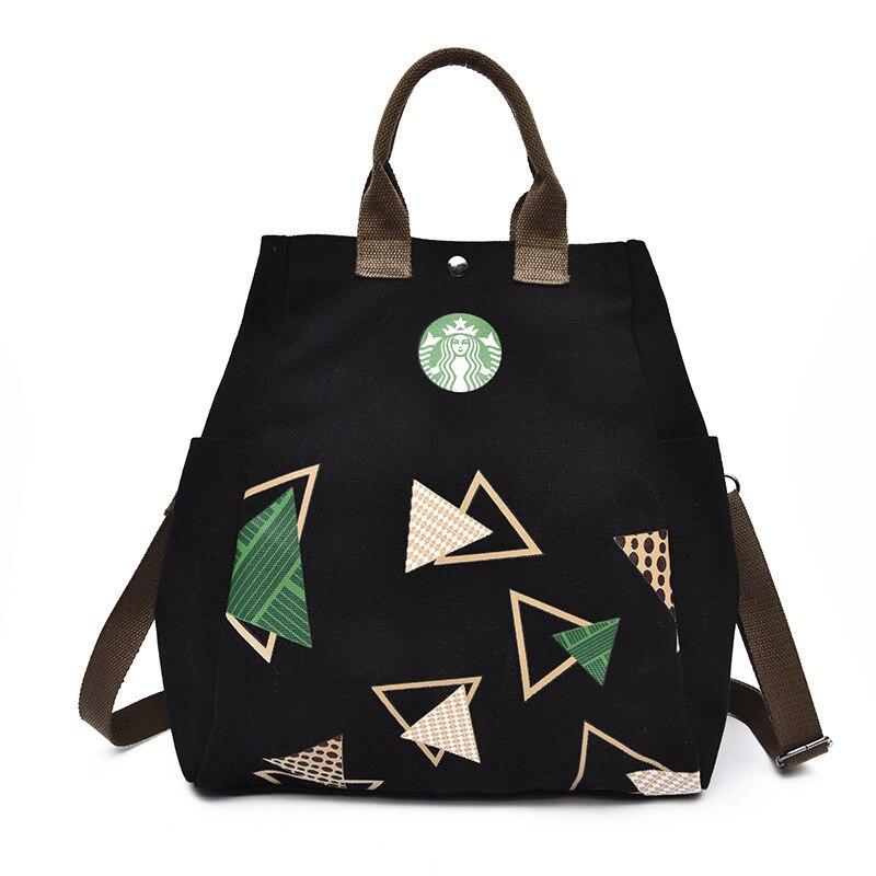 Anderi New Summer Women Canvas bohemian style strip Shoulder Beach Bag Female Casual Tote Shopping Big Bag floral Messenger Bags 5