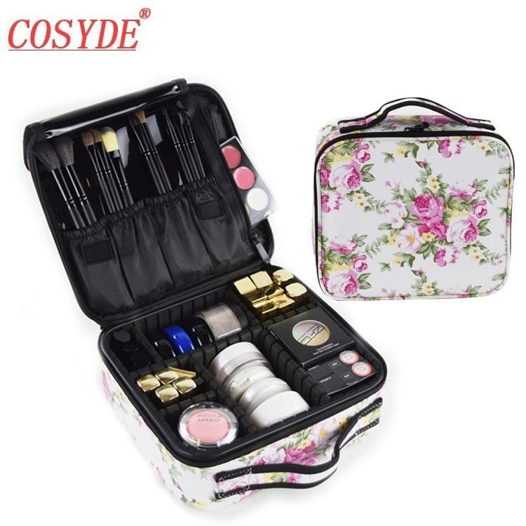2018 New Fashion Makeup Artist Professional Beauty Makeup Bag Cosmetic Cases Beauty Salon Tattoos Nail Art Multilayer Tool Bin