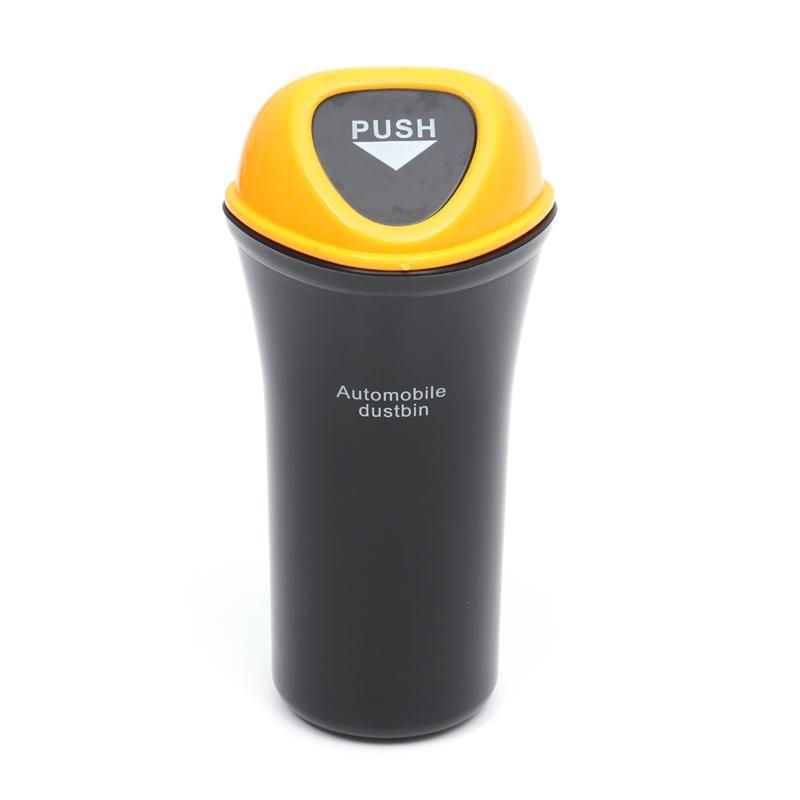 VORCOOL Portable Mini Automobile Dustbin Car Trash Can Car Organizer Leakproof Vehicle Trash Bin Garbage Can