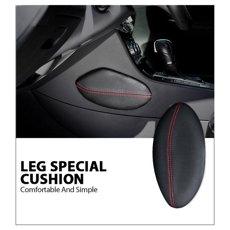 Universal Car Seat Cushion Foot Support Pillow Leather Leg Cushion Knee Pad Thigh Support Pillow Interior Car Accessories