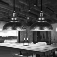 Industrial Vintage Metal Cage Hanging Ceiling Pendant Light Holder Lamp Shade