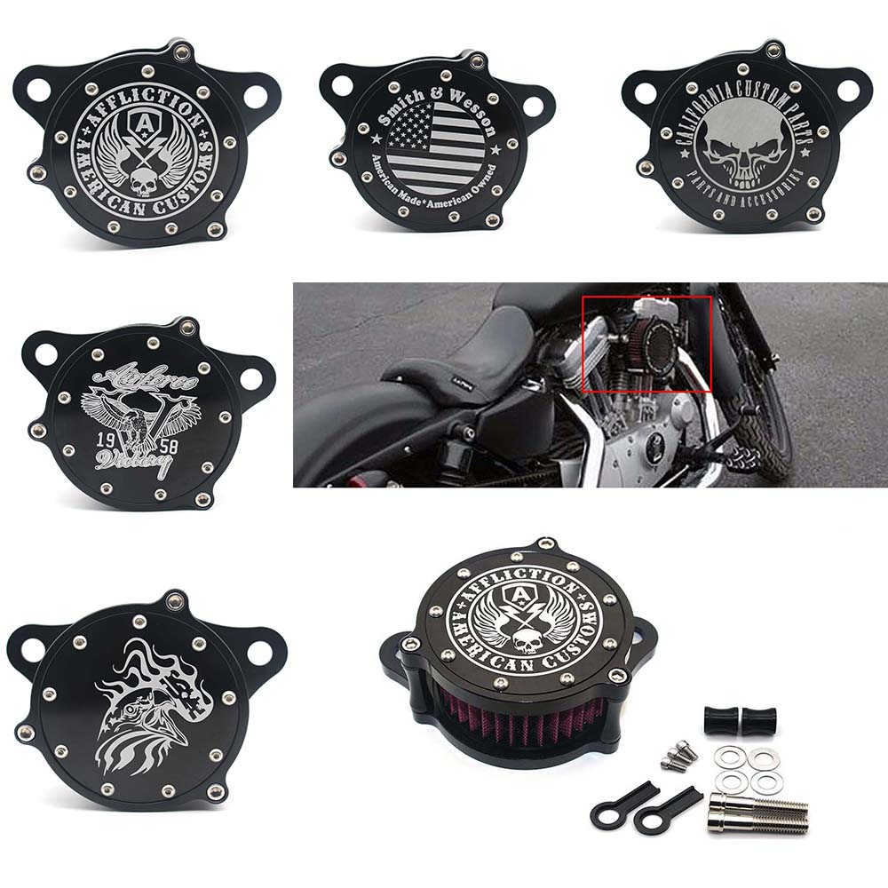 Air Filter Cleaner Intake Motorcycle Accessories Filter System Kit For Harley Sportster XL1200 Iron 883
