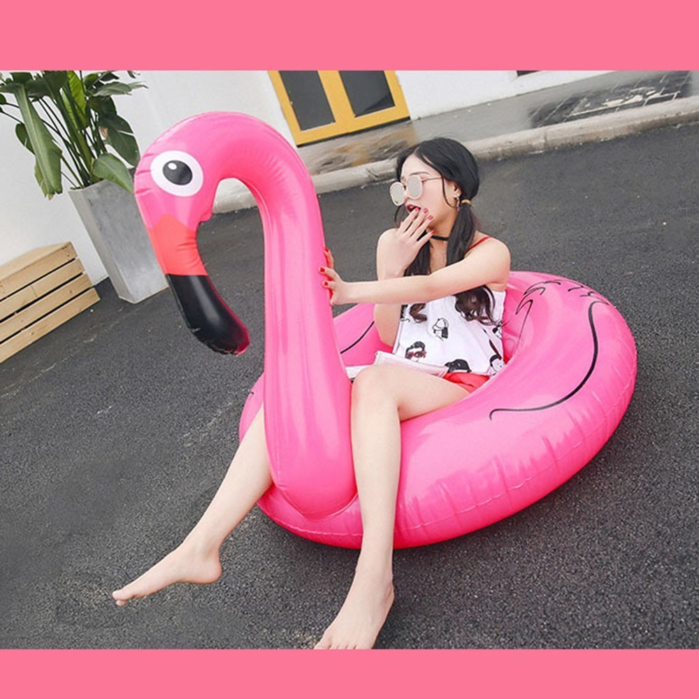 Flamingo Swimming Circle Adult Thickening Inflation Aquatic Mounts Lovely Unicorn Female pool inflatable toys YQ01