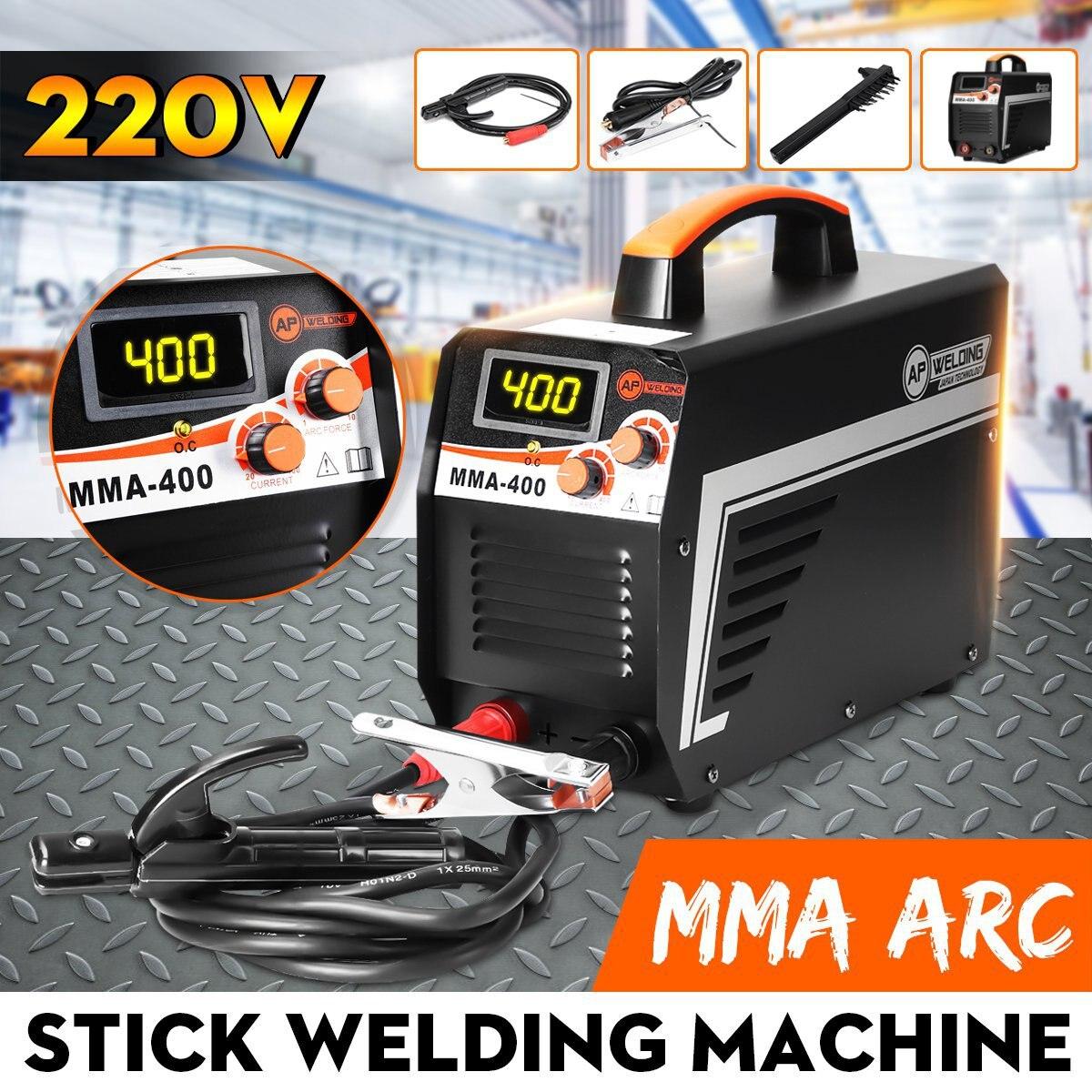New IGBT Inversor Máquina de Solda a Arco Elétrico MMA-400 220 V Display Digital de Soldagem Arc Soldadores Vara Definido Para DIY Casa trabalhando
