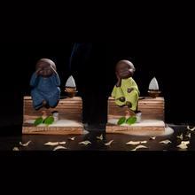 Little Monk Sticks Incense Holder Ceramic Backflow Incense Burner Creative Home Decor Smoke Waterfall Aromatherapy Censer 4 pcs set gel pen cat claws lapices kawaii stationary cartoon boligrafo kalem cute stationery material escolar caneta criativa