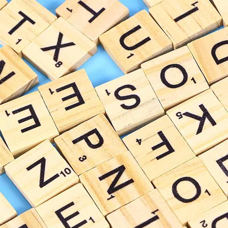 100 шт. 26 Алфавит Деревянные блоки ремесленные раннее образование буквы Пазлы фестиваль игра блоки фишки
