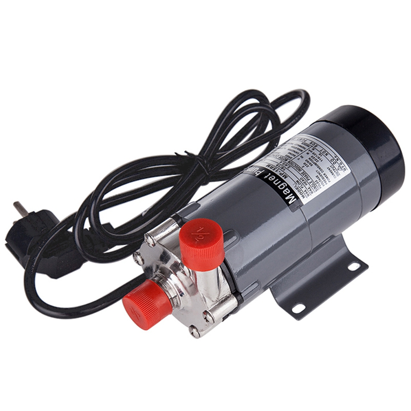 EU Plug Magnetic Drive Pump 15R With 304 Stainless Steel Head,Beer Brewing, 220V European Plug With 1/2Npt Thread - 2