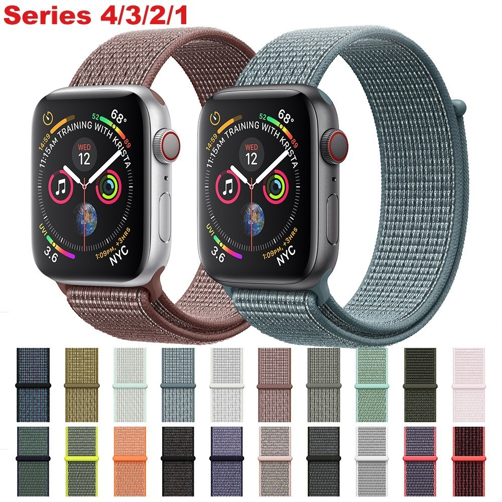 Velcro Sport Loop Strap For Apple Watch Bands 42mm 38mm Iwatch Series 4 3 2 44mm 40mm Accessorie Soft Nylon Bracelet Replacement
