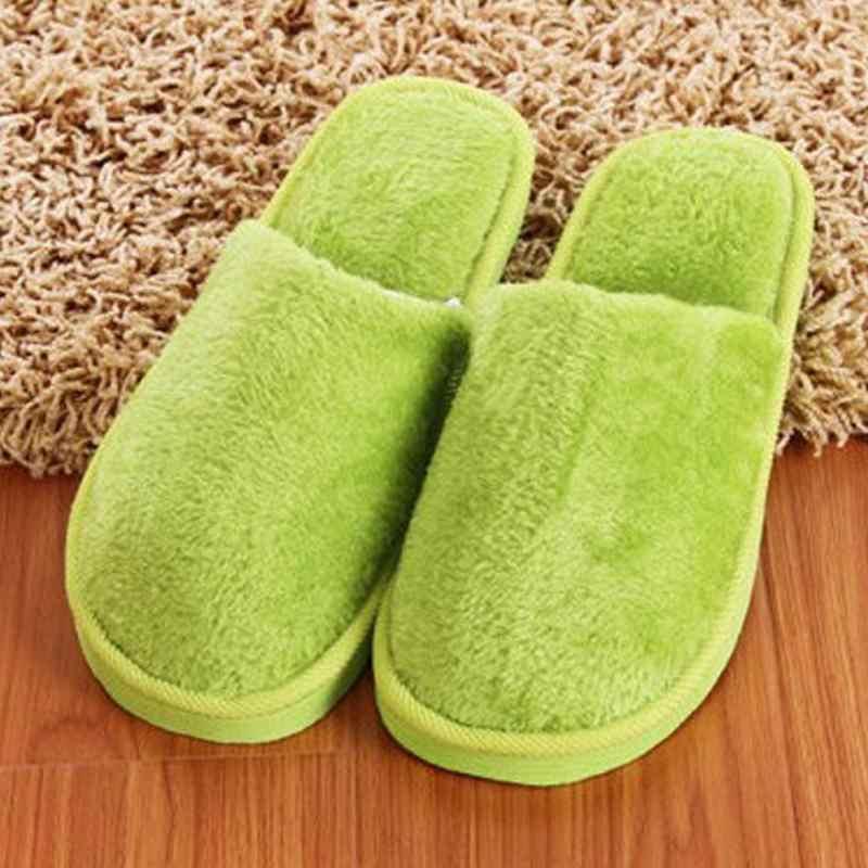 Nieuwe Vrouwen Winter Slippers Schoenen Zachte Pluche Katoen Antislip Vloer Indoor Harige Schoenen Slipper Voor Huis