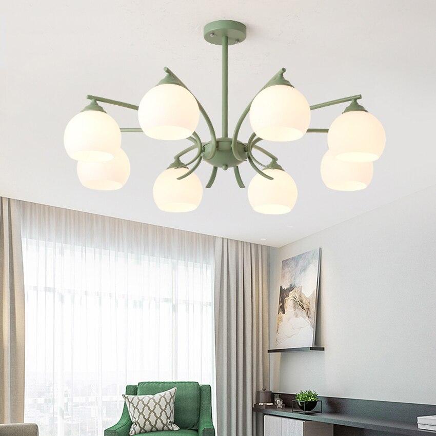 Nordic Loft LED Pendant Lights Acrylic Lampshade Living Lighting Room Luminaria Hanging Lamp Kitchen Fixtures Luminaire
