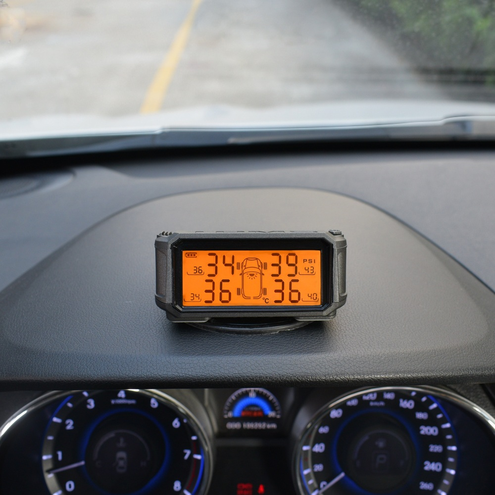 Deelife el sistema de monitoreo de presión de Sensor TPMS coche Solar de Control de presión de los neumáticos de alarma tics rueda externa los sensores internos. - 2