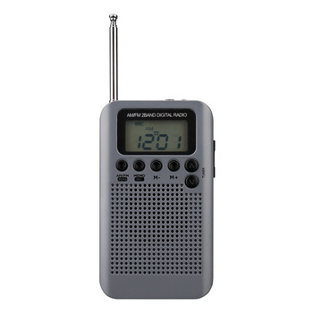 Mini Lcd Digital FMAM Radio Speaker With Alarm Clock And Time Display Function 3.5mm Headphone Jack And Charging Cable