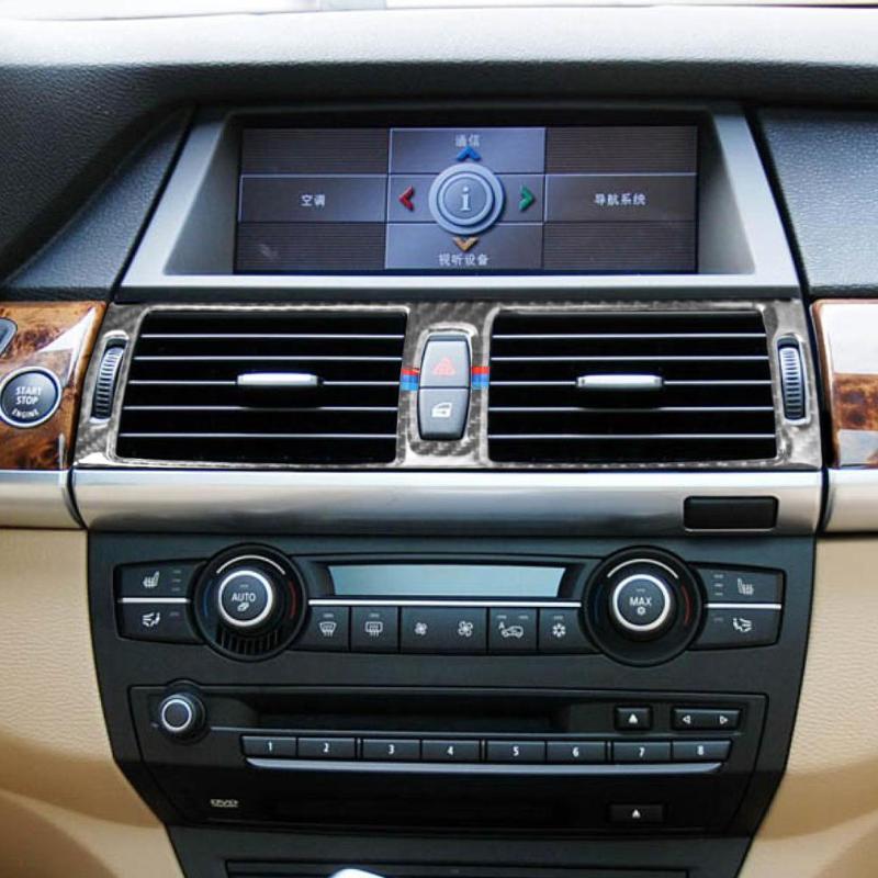 2013 Bmw X6 Interior: VODOOL 1Pc Carbon Fiber Auto Car Center Console Air
