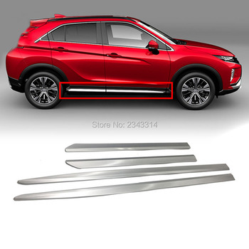 For Mitsubishi Eclipse Cross 2017-2019 ABS Chrome External Rear Bumper Grill Sticker Cover Trim Frame Car Styling Accessories