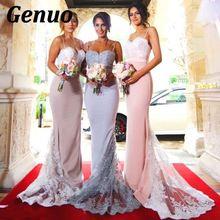 Genuo Elegant Lace Maxi Dress Women Sexy Bandage for Wedding Party night Bridesmaid Floral vestidos de fiesta