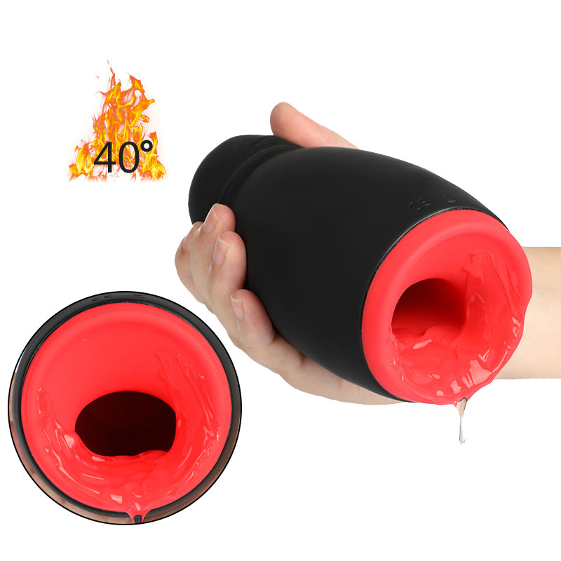 bombomda Masturbator Cup Adult Sex Toys for Men Automatic Heating Electric Tongue Sucking Masturbation