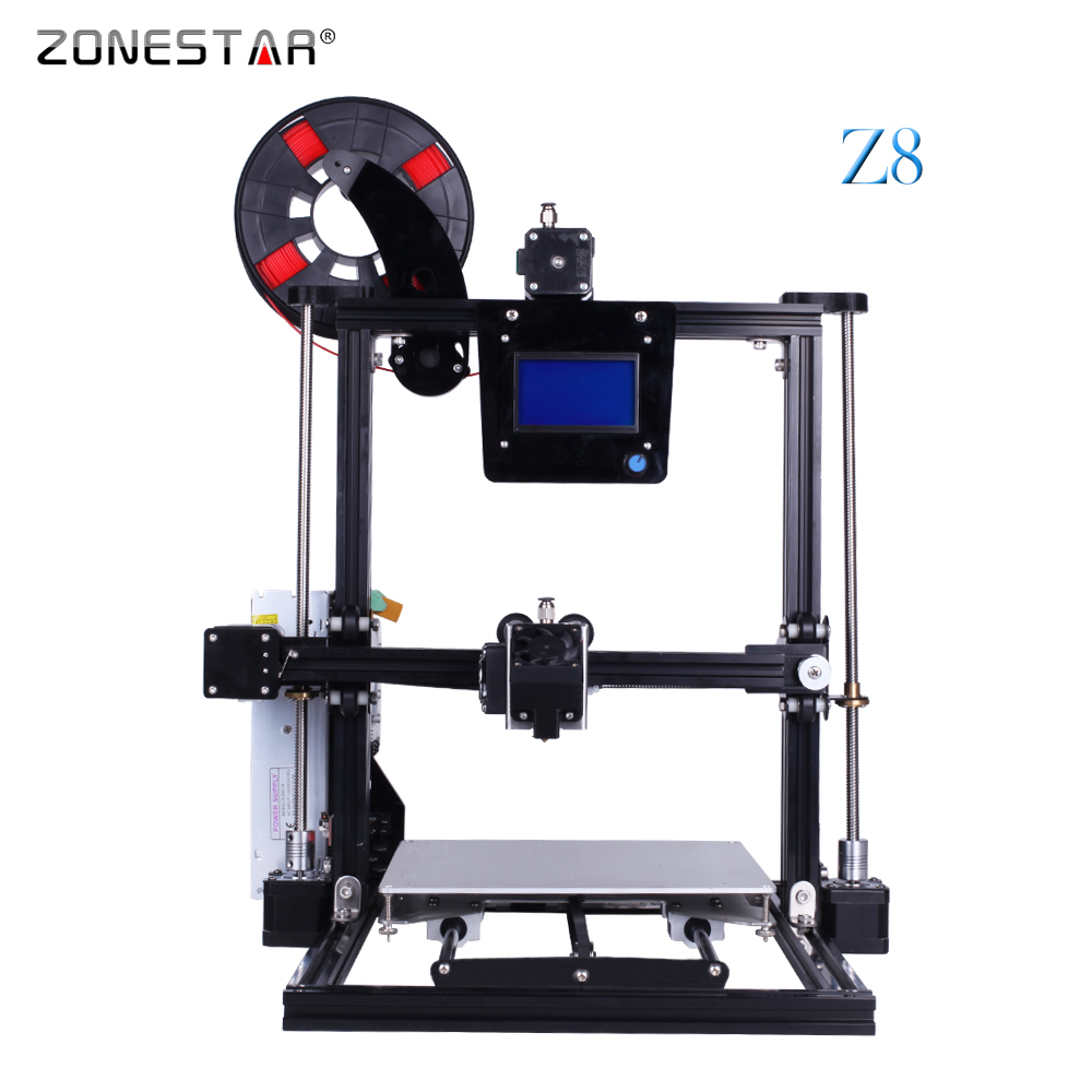 ZONESTAR Full Metal Aluminum Frame Bed Auto Leveling Optional One/Dual/Three Extruder Mixing Color 3D printer DIY Kit Free Ship zonestar newest full metal aluminum frame big size 300mm x 300mm auto level laser engraving run out decect 3d printer diy kit