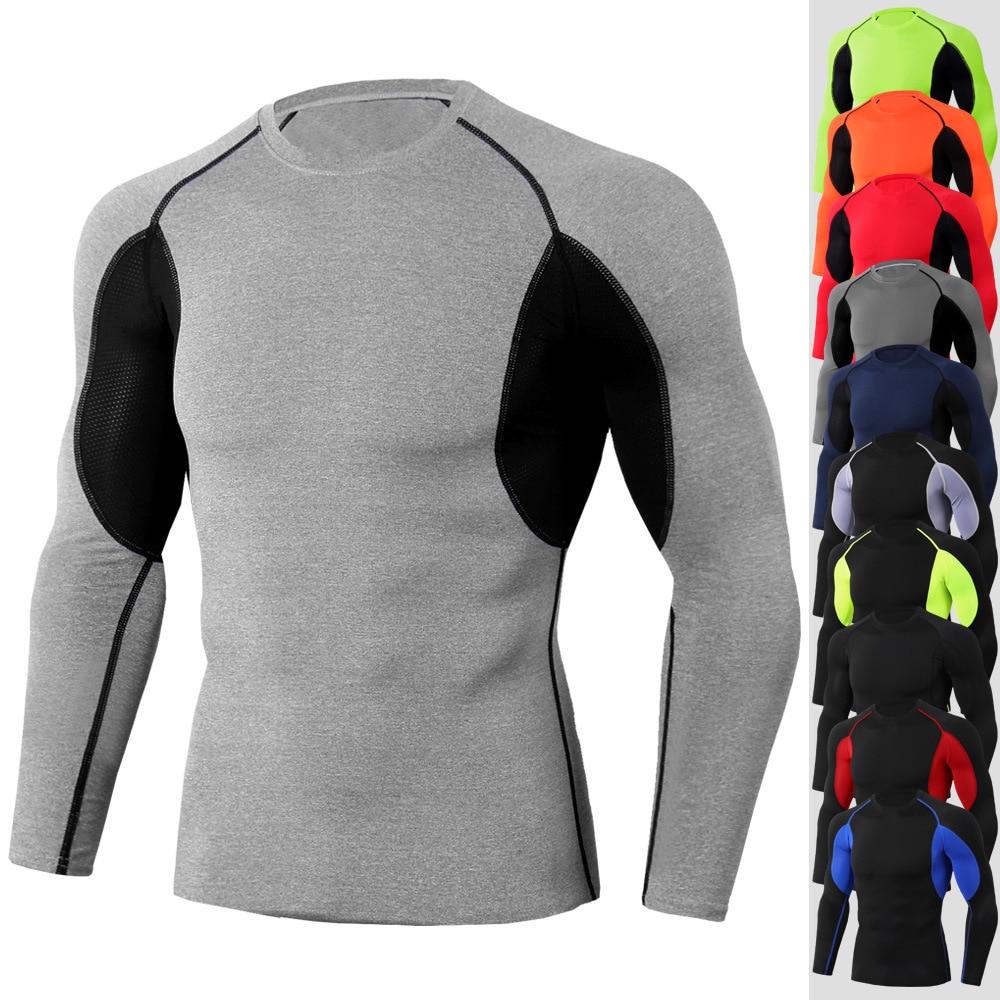 Hohe Qualität Radfahren Trikots Sport Shirts Basis schicht Thermische Shirt Rashgarda MMA Lonlg ärmeln Schnell trocknend Running Training top