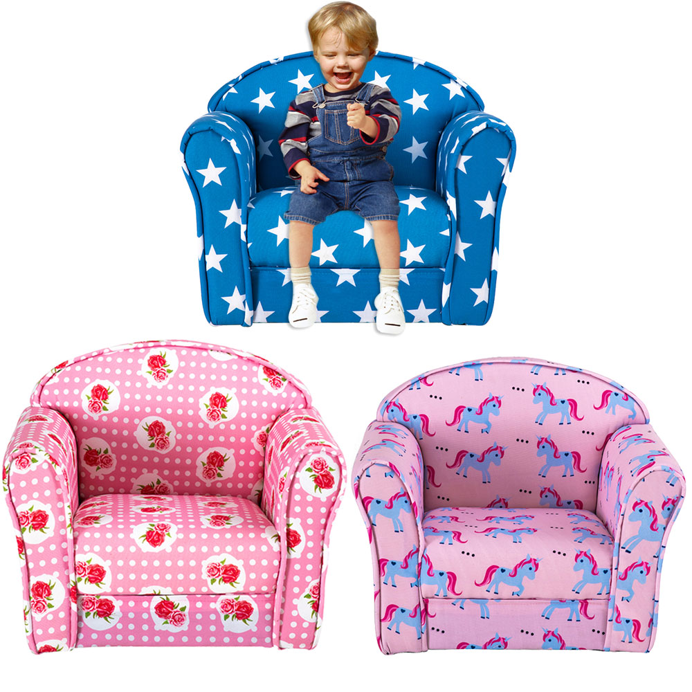 Panana Lovely Colourful Children's Bedroom Playroom Armchair Solid Wooden Frame Filled With Hard Foam Kid's Bedroom Tub Seating