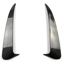 For Benz C Class W205 C43 C63 Amg Carbon Fiber Look Rear Bumper Air Vent Cover 2014-2019 2Pcs(China)