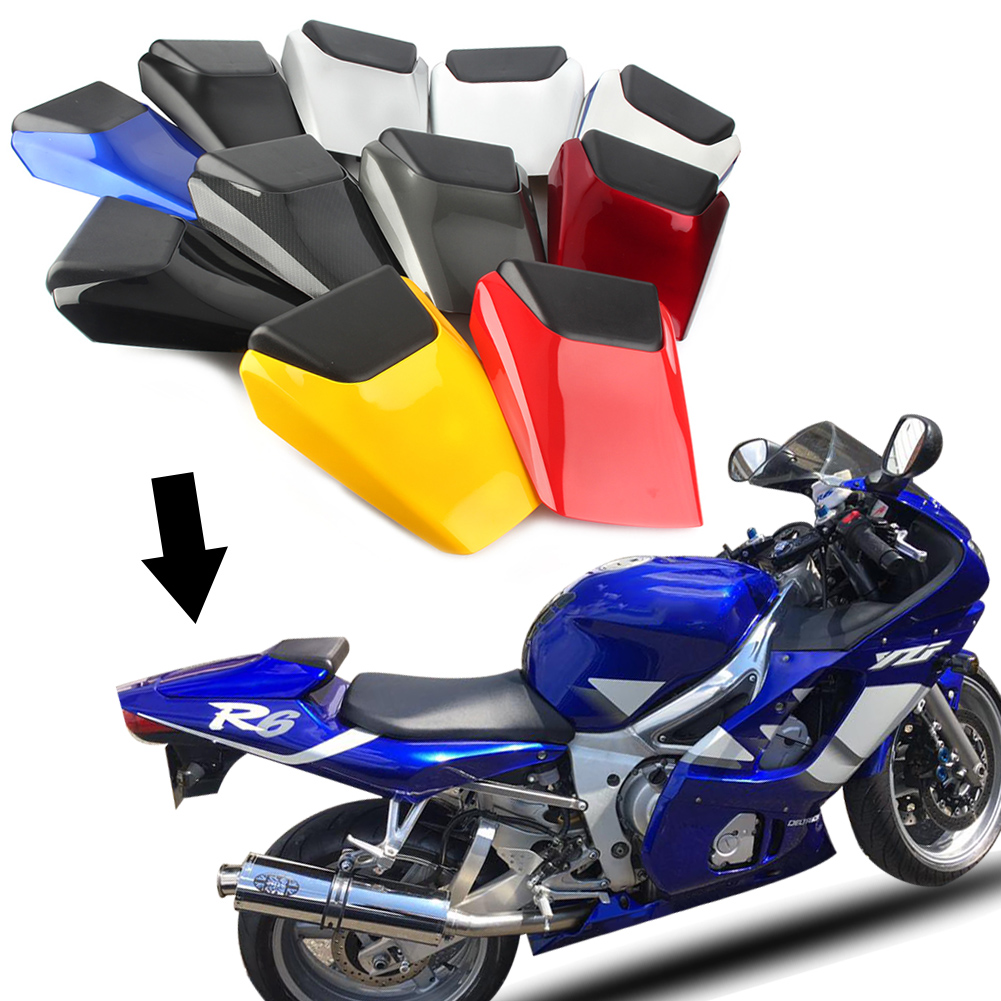 Motorcycle Rear Pillion Passenger Cowl Seat Back Cover Fairing Part For <font><b>Yamaha</b></font> YZF <font><b>R6</b></font> 1998 1999 <font><b>2000</b></font> 2001 2002 image