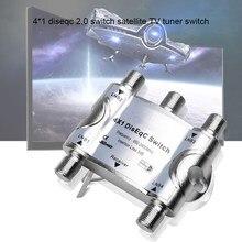 Kebidu Segnale Originale 4X1 Diseqc Switch Switch Satellitare Sintonizzatore Tv Interruttore Fta Ricevitore Satellitare Diseqc 2.0 Satellitare a Banda Larga Interruttore