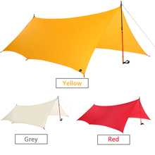 11.5 * 10FT Lightweight Waterproof Rain Fly Hammock Tarp Cover Sunshade Tent Shelter Awning Camping Outdoor Travel Sun