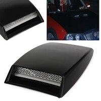 Универсальная автомобильная черная крышка, лопатка для капота, воздухозаборник, вентиляционное отверстие, декоративная ABS черная лопатка, ...
