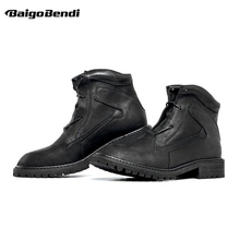 British Style Men's Boots Retro Boots Fashion Men's Shoes Autumn Winter Genuine Leather Lace Up Work Safety Boots z suo handmade luxury shoes woman cow leather autumn winter women boots fashion safety work boots retro motorcycle boots yellow