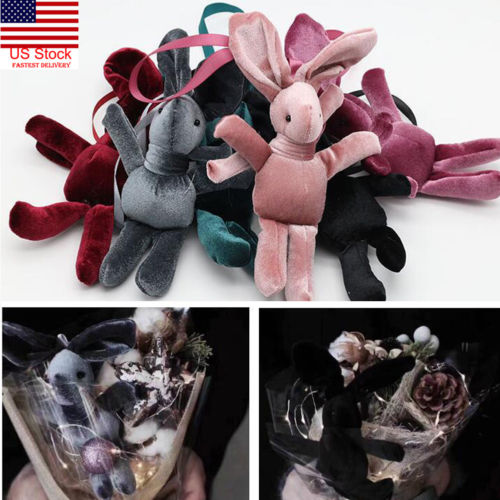 2019 Cute Plush Rabbit Keyring Handbag Pendant Decor Toys Valentines Flowers Decor Toy Keychains And To Have A Long Life. Toys & Hobbies