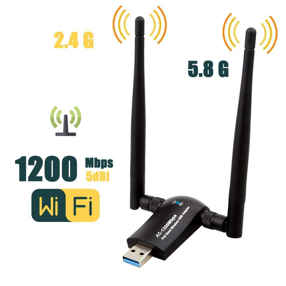 Networking Eastvita Wireless Usb Wifi Adapter Ac1200 Dual Band 2,4g/5,8g High Gain Dual Antennen Netzwerk Wifi Usb 3.0 Für Desktop R20 Wi-fi Finder