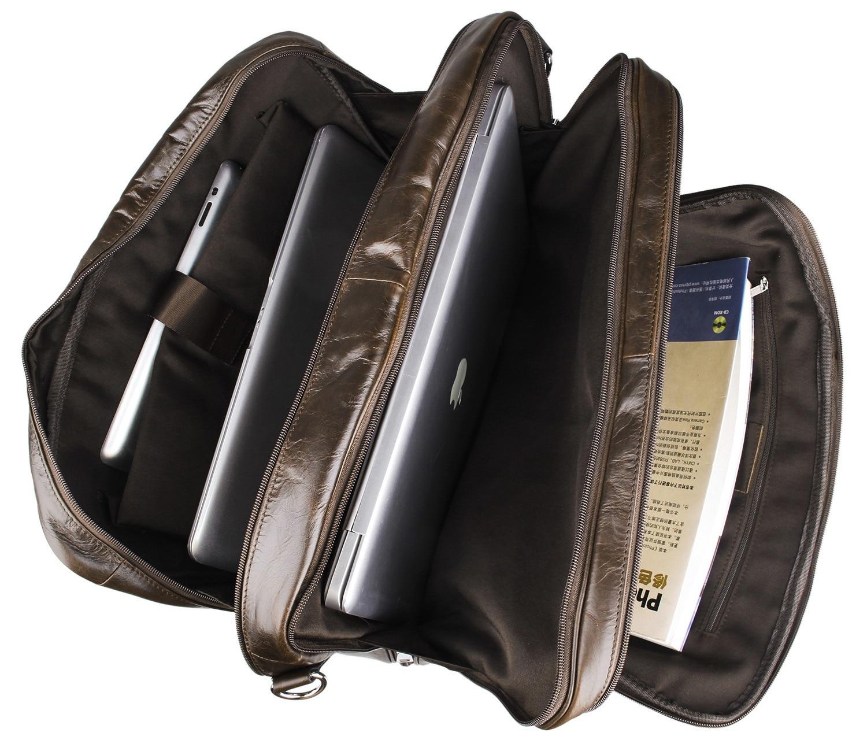 Европейская и американская деловая кожаная мужская сумка 730 40 большая сумка 17 дюймов компьютерный портфель для ноутбука чехол для документ... - 6