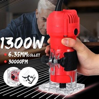 1300W Electric Hand Trimmer 220V/110VWood Laminate Palms Wood Router Joiners Carving Machine DIY Woodworking Power Tool 30000RPM