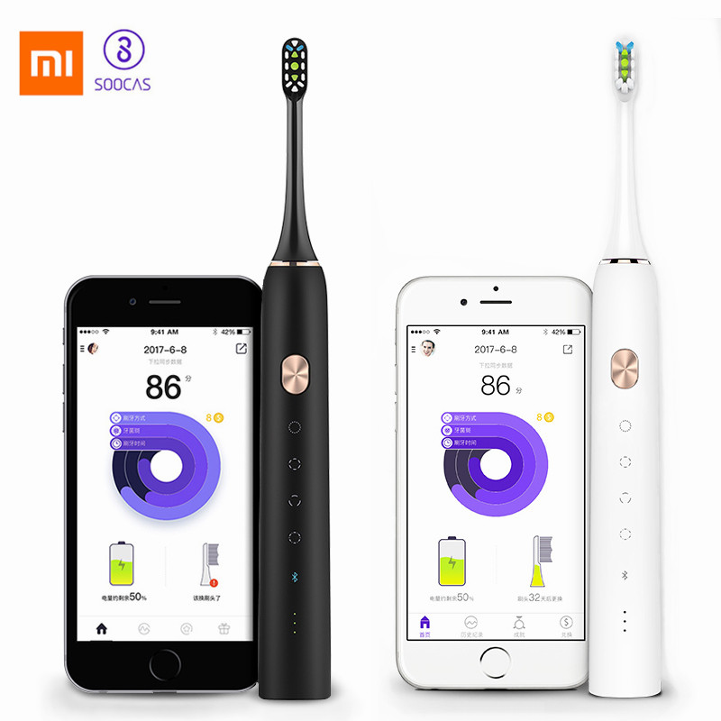 Xiaomi Soocas X3 SonicToothbrush Rechargeable Electrric Toothbrush IPX7 Waterproof Upgraded Ultrasonic Tooth Brush 4 Brush ModesXiaomi Soocas X3 SonicToothbrush Rechargeable Electrric Toothbrush IPX7 Waterproof Upgraded Ultrasonic Tooth Brush 4 Brush Modes