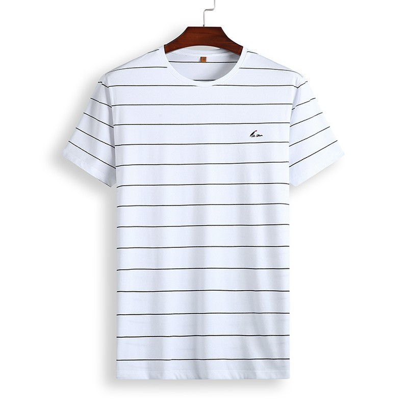8XL 7XL Polo Shirt Men's Business Casual Summer Breathable Short Sleeve Striped Polo Shirt Cotton Of High Quality 81931 Poles 32