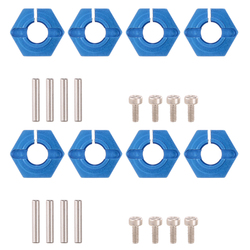 12mm 1/10 8pcs Aluminum Wheel Hex Nuts with Screws Pins for 1/10 Traxxas Tamiya LRP HSP HPI Redcat WLtoy RC Car Parts
