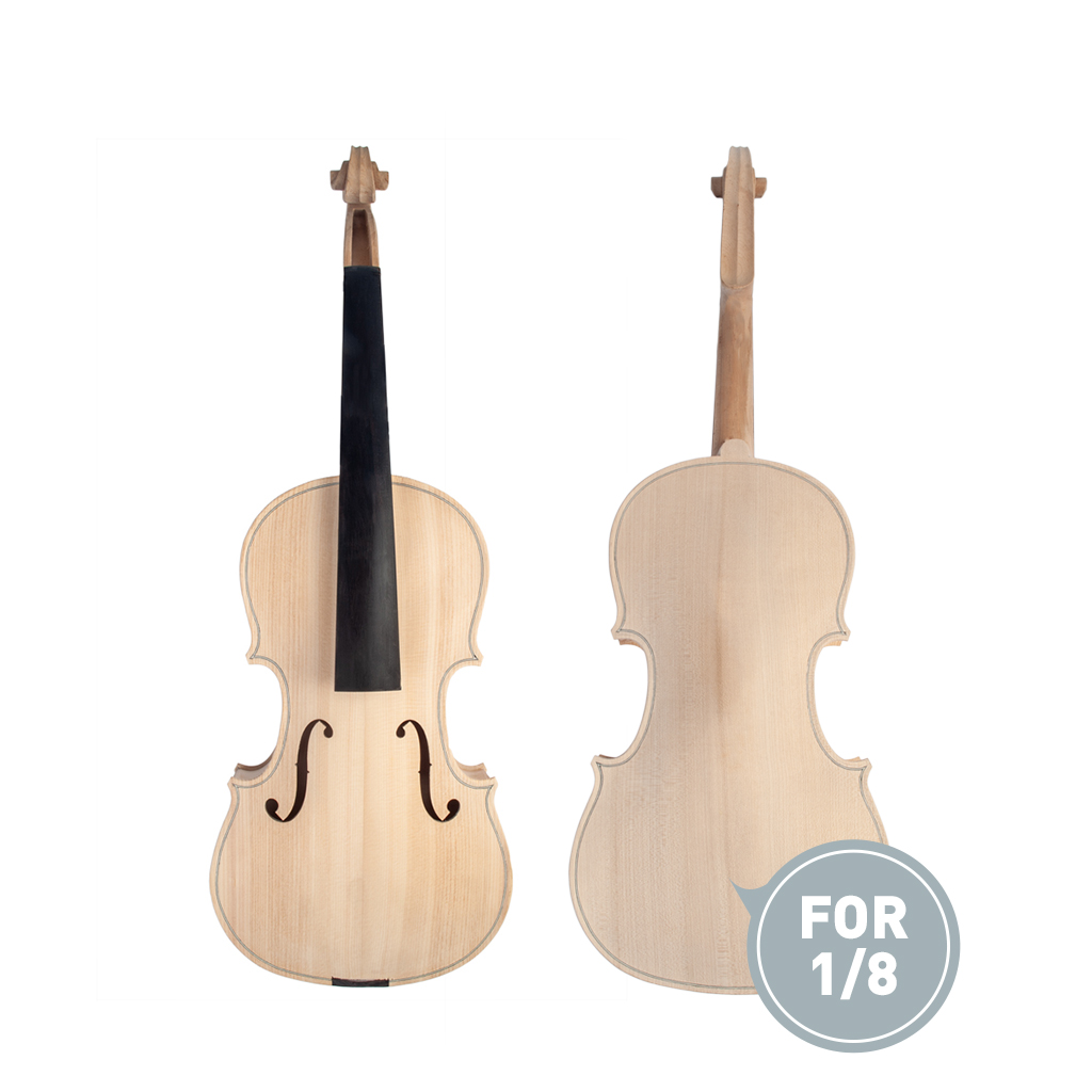 Musical Instruments United 1/8 Violin Maple With Ebony Fingerboard Unfinished Violin For 1/8 Diy Violin Accessories To Prevent And Cure Diseases
