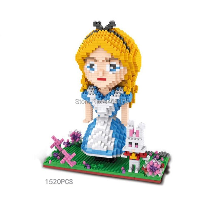 hot LegoINGlys creators Fairy Tales princess micro diamond building blocks mermaid Snow White Cinderella model bricks toys gift in Blocks from Toys Hobbies