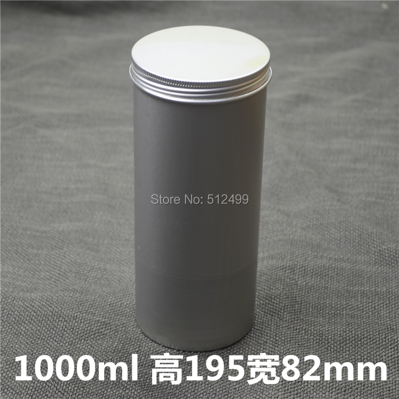 1000g 10/20pcs Refillable empty round aluminum tin cans bottle food aluminum cans cosmetic container box tea aluminum jar