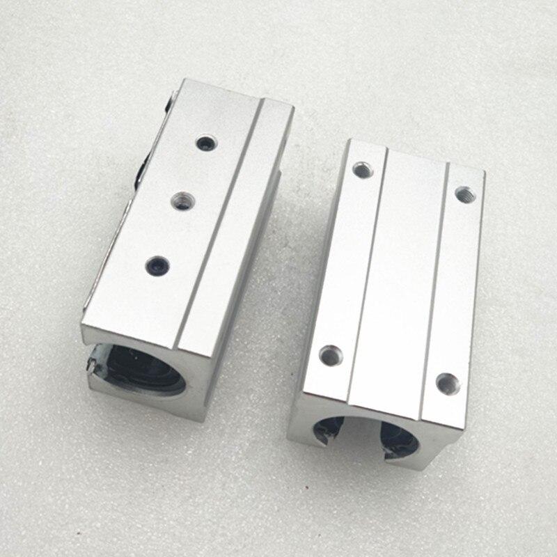 40 pièces SBR16LUU bloc en aluminium 16mm mouvement linéaire roulement à billes bloc coulissant match utilisation SBR16 16mm rail de guidage linéaire