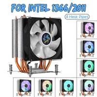90mm 4 Copper Heatpipe CPU Cooler for Aurora Light Cooling Fan with RGB for Intel LGA 2011 CPU Cooler Heatsink Radiator