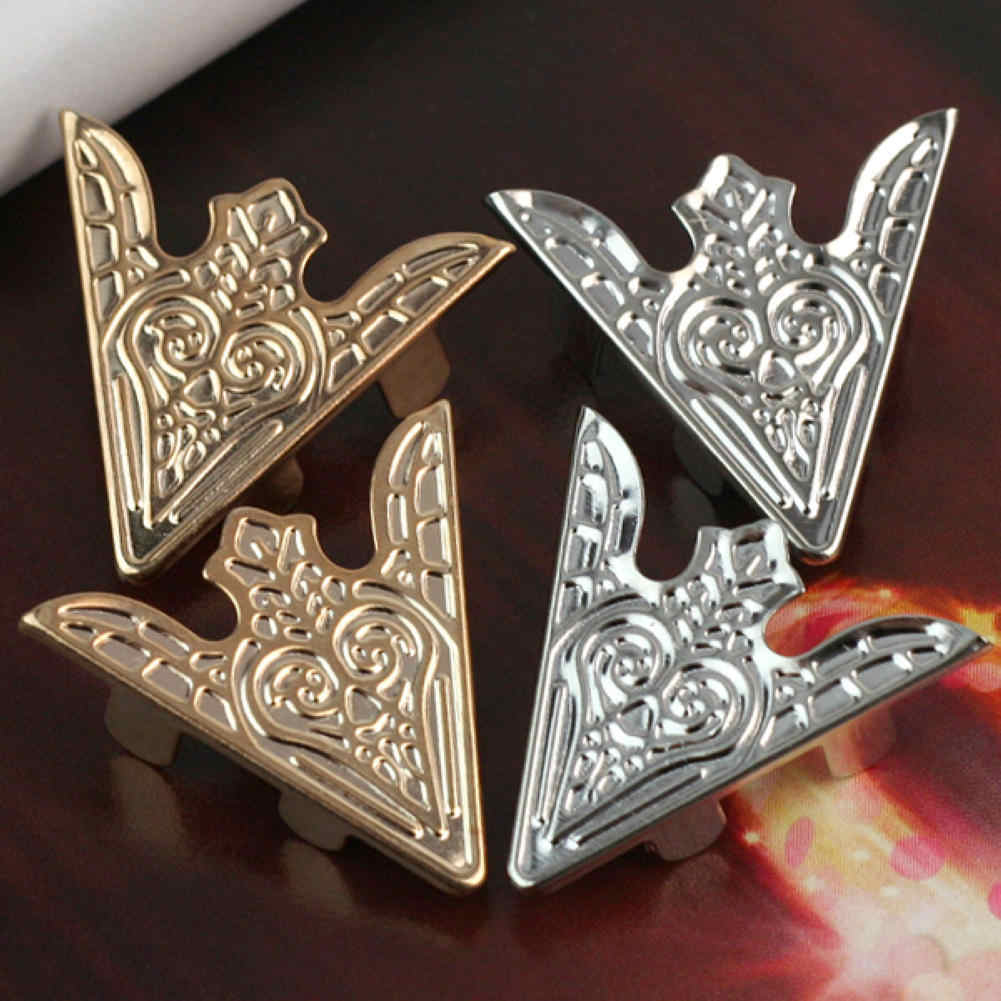 6 Pieces Blouse Shirt Metallic Metal Pointed Collar Clips Wings Tips Silver