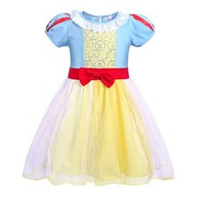 AmzBarley Girls Cosplay Dress Up For Snow White Kids Children Cartoon Princess Costume Baby Girl Halloween Outfit