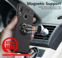 Case For Huawei P20 Lite P20Lite Colored Silicon TPU Skin Phone Cover Soft Magnetic Car Holder Ring
